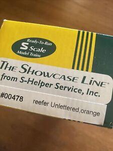 S-Helper Service Showcase Line 00478 Reefer Unlettered Orange NRFB
