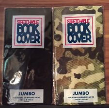 JUMBO Camouflage And Black Stretchable Fabric Book Covers - New Lot 1