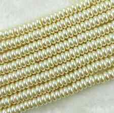 Free ship 60Pcs Cream Glass Corn Shape Pearl Spacer Loose Beads 8*4mm