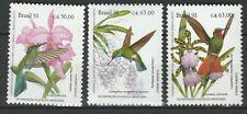 Brazil 1991 Birds 3 MNH stamps