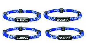 4 Pack - Sabona Athletic Magnetic Bracelet (Blue - Size Small-Medium)