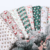 Christmas Cotton Fabric Santa Snowman Patchwork DIY Dress Sewing Kids Doll Craft