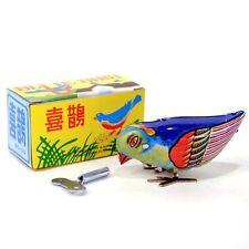 Vintage Wind-Up Bird Pecking Tin Mechanical Toy