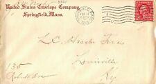 United States Envelope Company Springfield Mass MA 1914 Postmark Cover Envelope