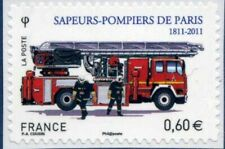 TIMBRE FRANCE AUTOADHESIF 2011 N° 0602 NEUF ** Pompiers de Paris et véhicule