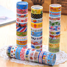 10 PCS 1.5cm×300cm  Sticky Adhesive Sticker Decor Washi Tapes Funny