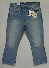 Levis 517 Boot Cut Cropped Jeans Womens Size 32 in. Blue Denim Orange Tab
