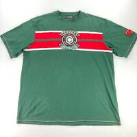 Coogi Men's Embroidered Classic Logo T-Shirt Green Red • 3XL