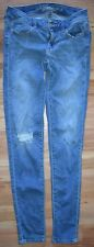 AEO American Eagle Outfitters Jeans Size 0 Destroyed Jegging Light Wash EUC