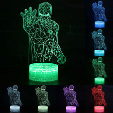 Iron Man 3D LED Lamp Color Changing Night Light Table Desk Art Decor Gifts