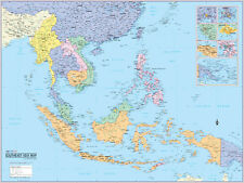 Cool Owl Maps East Asia Region Wall Map Poster - Laminated 32