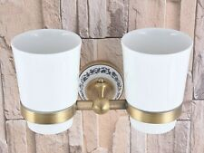 Antique Brass Tumbler Holder Cups & Tumbler Holders Bathroom Accessories