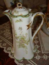 Haviland Limoges Antique Teapot Set, Pink Roses Gold Trim E627 Serves 6