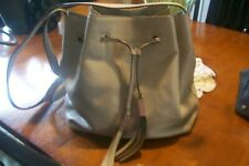 Kate Spade Tan Leather Drawstring Crossbody