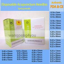 FDA&CE Disposable Acupuncture Sterile Needles Spring Handle Single Use 1000pcs