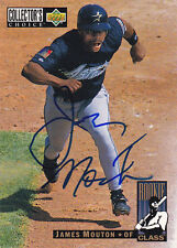 JAMES MOUTON HOUSTON ASTROS SIGNED 1994 CARD MILWAUKEE BREWERS SAN DIEGO PADRES
