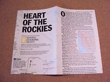 Vintage National Geographic July 1995 Map Heart Of The Rockies Rocky Mountains