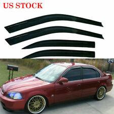 For Honda Civic 4 Door Sedan 1996-2000 Smoke Tinted Window Visor Sun/Rain Guard (Fits: Honda)