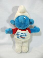 """Vintage Peyo Smurf Plush Stuffed 1981 Wallace Berrie with T Shirt 13"""" tall"""