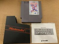 BLADES OF STEEL Original Nintendo NES Game Tested Works 100% Authentic w/ Manual