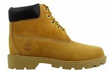 "Junior Boys Girls Kids Timberland Wheat 6"" 6 Inch Leather Boots Size UK 2.5"