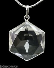 Merkaba Real Quartz Crystal .925 Sterling Silver Pendant Comes with Free Chain