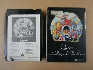 8 track cartridge + slip case QUEEN - A DAY AT THE RACES