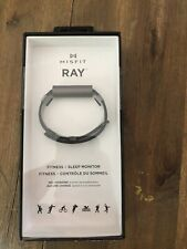 Misfit Ray Health Fitness Sleep Tracker with Black Leather Band Carbon