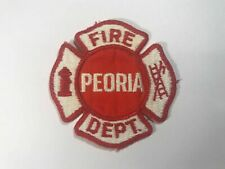 Vintage Peoria Fire Department Sew Embroidered Patch