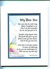 #54 Gift Birthday Present Poem For A Son, My Dear Son