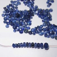 Natural Ceylon Blue Sapphires Loose Gemstone 1+Carats Faceted Round SZ-5 to 2 MM