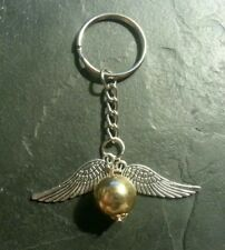 Harry Potter Snitch Wings Ball Keychain Ring Fob Pendant Charm Gift Present