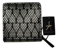 Ladies Black Silver Heart Purse With Gold Zip Elegant Wallet Clutch Bag Primark