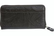 Casual Outfitters Solid Genuine Leather Ladies Wallet Black LULWAL31 Gift Boxed