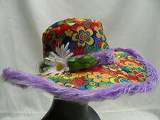 Flower Power - Paz - Talla Única - NOVEDAD Hipster Estilo Sombrero De Pescador
