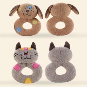 Newborn Infant Baby Rattles Ring Plush Toys Handbell Grab Soft Stuff BM