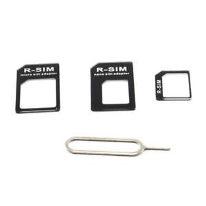 Nano Micro Mini Standard SIM Card Adapter Converter Kit Tray Tool