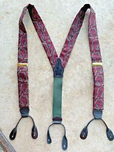 Polo~Ralph Lauren~Suspenders Braces~Brass Hardware~Made in USA