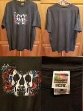 Vtg Deftones Self Titled Album Skull Rock T Shirt 2Xl Nu Metal Alternative Korn