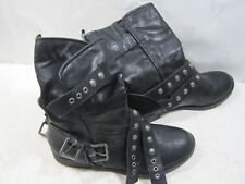 Coach & Four Black Leather Ladies Ankle Boot Shoes Size 7.5 M #F15