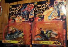 Ghost Rider Flamin' Stunt Cycles Set Of Two (2) Marvel Comics Toy Biz New 1995 A