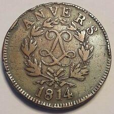 10 cent. Louis XVIII Anvers au double L 1814 R  KM# 7 France Napoléon