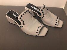 Gadea Ladies Shoes Sandals Pumps Grey/Beige Studded Size 40