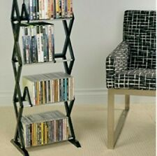 CD/DVD/Blu-Ray/VHS Media Rack, 4 Levels, wall mount or free standing-smoke color