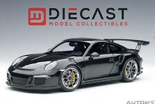 AUTOART 78164 PORSCHE 991 GT3 RS (GLOSS BLACK /DARK GREY WHEELS) 1:18TH SCALE