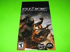 G.I.JOE THE RISE OF COBRA ~ PLAYSTATION PORTABLE PSP MANUAL ONLY