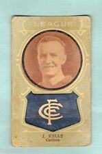 1930s AUSTRALIAN LICORICE FOOTBALLERS CARD - J. KELLY, CARLTON