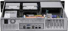 "2U ATX LCD(250W PSU)(5.25""+7xHDD)(Rackmount)D14.96"" (3Horizontal Riser) Case NEW"