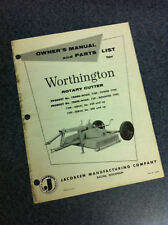 Jacobsen Worthington Rotary Cutter Mower Parts Manual