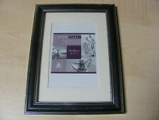 """BLACK & SILVER 5x7 INCH (13x18 CM) MOUNTED (3.5X5 """") WOOD / WOODEN PHOTO FRAME"""